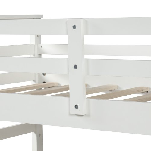 Twin-Over-Twin Trundle Bunk Bed with 4 Storage Drwers 17