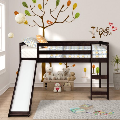 Kids Loft Bed with Slide, Multifunctional Design 3