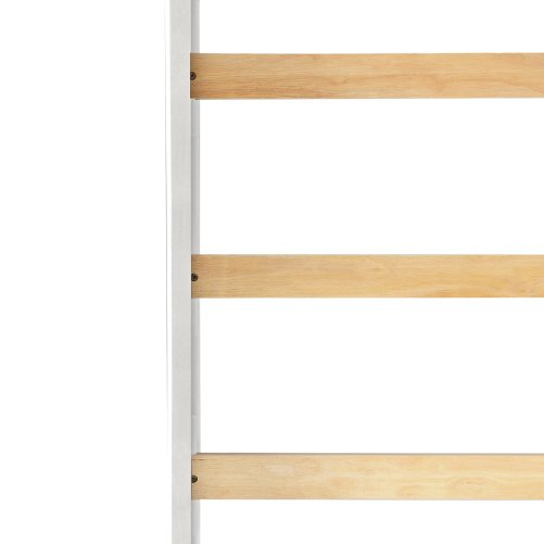 Solid Wood Loft Bed Panel Style Loft Bed,Side Angled Ladder 7