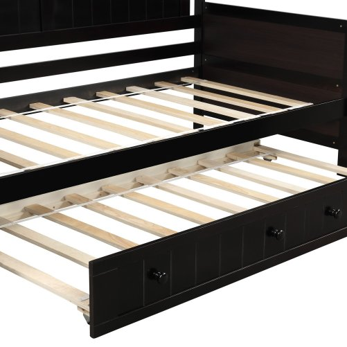 Twin Wooden Daybed with Trundle Bed 28