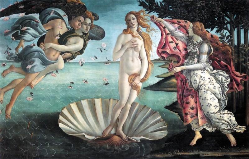 Naşterea lui Venus de Botticelli foto: imgur.com