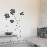 Elegant Wall Decals - wall decal elegant flowers - giant ...