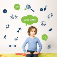 Wall Decal Sports - Vinyl Wall Stickers - 4make - CoolWallArt
