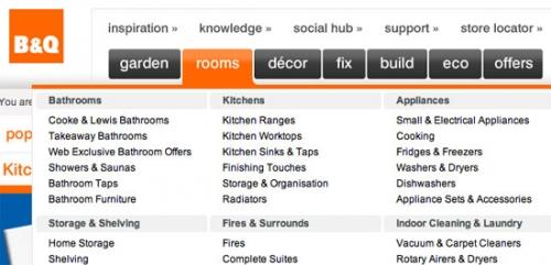 50 примеров выпадающих меню в веб-дизайне