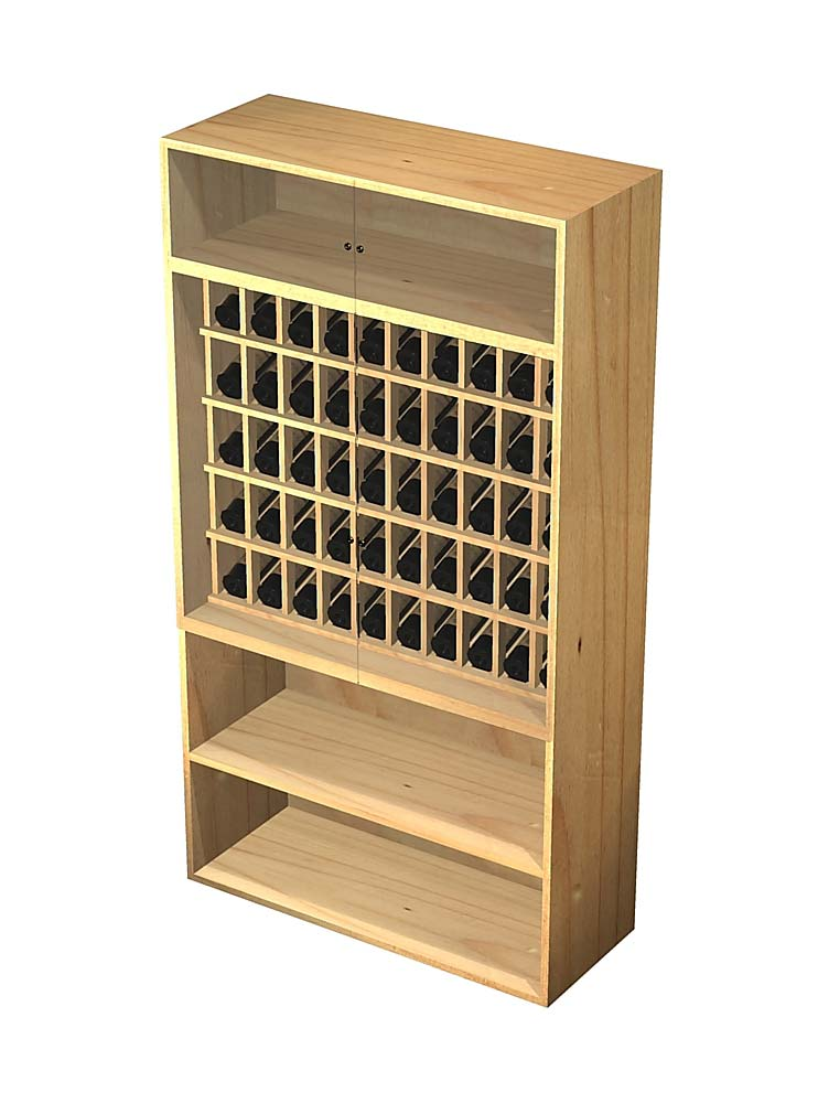 Locking Wine Display Cabinet
