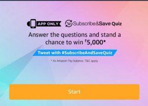 Amazon Subscribe & Save Quiz