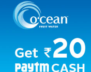 Paytm Ocean Water Offer-Get Free Rs.20 Paytm Cash on Each Bottle