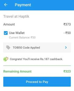 Haptik App : Book Flight/Train/Movie Tickets & Get Instant 50% Cashback
