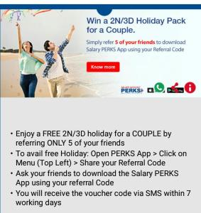 [Loot] HDFC Perks App : Refer 5 Friends & Win Free 2N/3D Holiday Pack