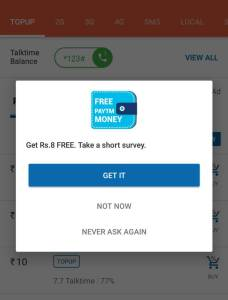 Get Free 8 RS PayTM Cash From Ireff App By Completing One Survey