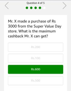 (All Answers)Amazon Super Value Quiz – Answer & Win Rs 5000