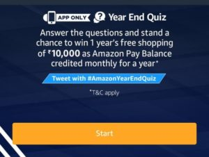 (All Answers) Amazon Year End Quiz – Answer and Win 1 Year Free Shopping