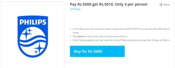 PayTM Free Rs.30- Buy Deal Worth ₹5000 & Get ₹5010 Back (3 Times)