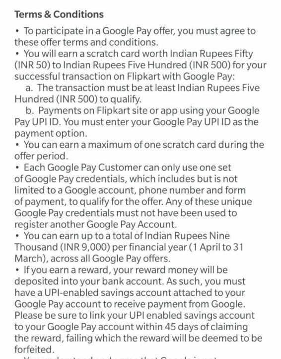 Earn Upto ₹500 Scratch Card Using Google Pay At Flipkart