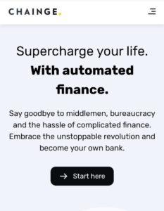 CHAINGE Finance Air Drop Refer Earn