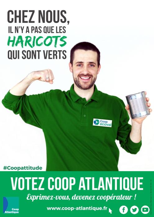 Votez Coop Atlantique : il n'y a pas que les haricots qui sont verts