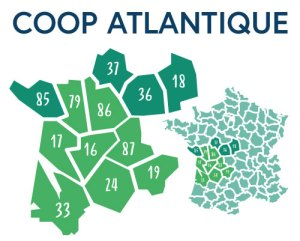 Carte magasins Coop Atlantique
