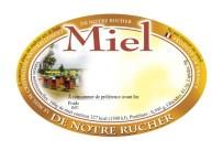étiquettes ovales modèle ruches