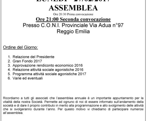 convocazione assemblea 2017