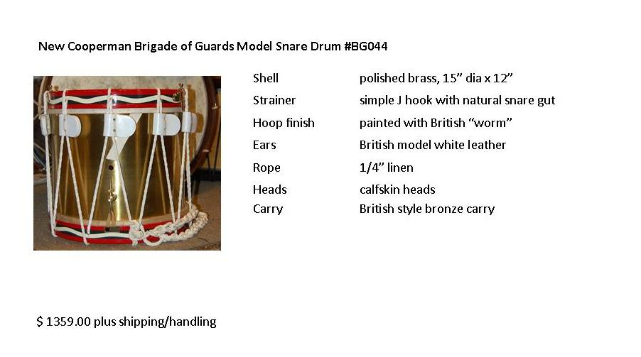 Rope Tension Drums Parts Diagram Cooperman Fife And Drums