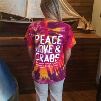 Tie Dye Scranton Peace Love Crabs Shirt