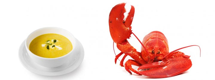 soup and lobster