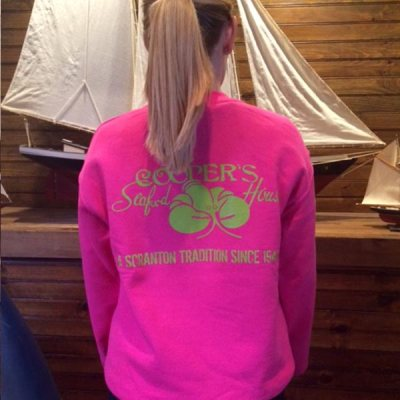 Coopers crew sweatshirt back pink