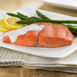 Baked Salmon with Dill Cream