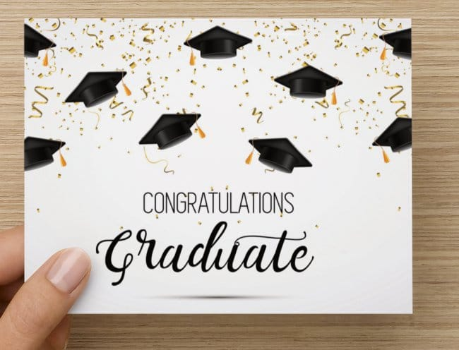 Graduation Greeting Card & Cooper's Gift Certificate