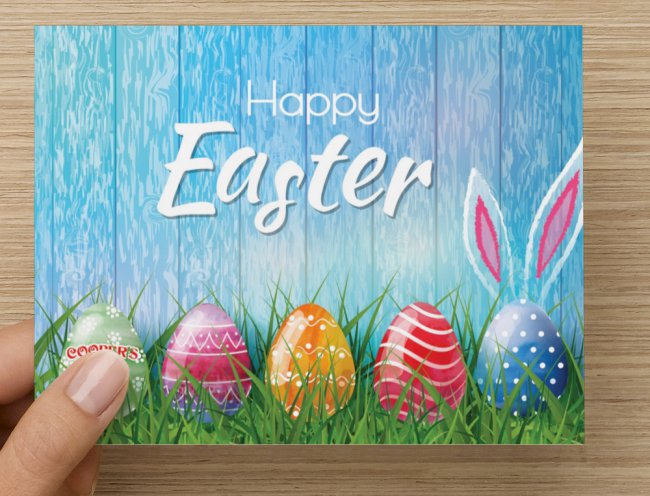 Easter Gift Cards! Stay Home, we will send it with a Easter greeting card!