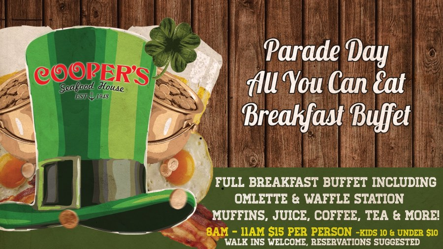 St Patrick's Parade Day Breakfast Buffet