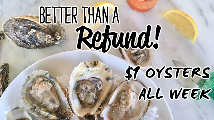 Tax Week Special – Buck a Shuck All Day