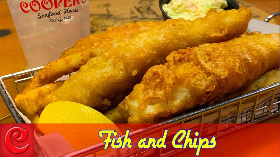12.95 Fish and Chips - Mondays at Cooper's