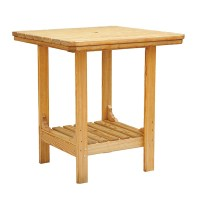 Square Patio Table - Cooper's Collection - Outdoor Wood ...