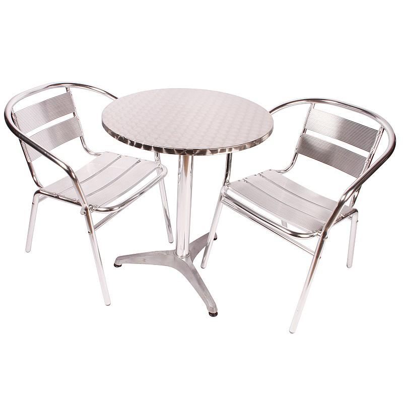 Coopers of Stortford Aluminium Bistro Set Table  2