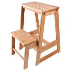 Wooden Kitchen Stools Storage Racks Step Simple Stool For Bedroom