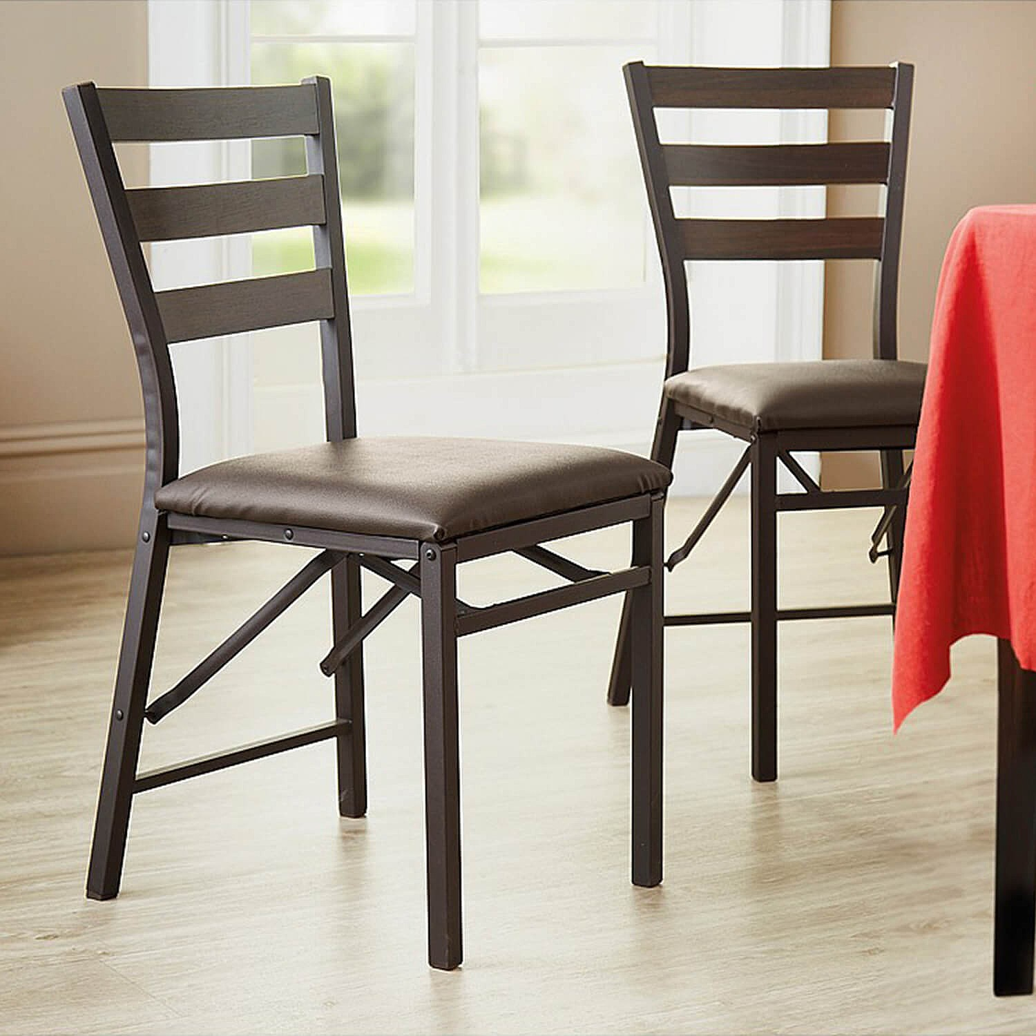 upholstered folding chairs uk fishing swivel chair dining foldable padded coopers pk 2