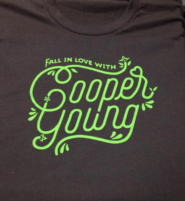 """Fall in Love with Cooper Young"" t-shirts"