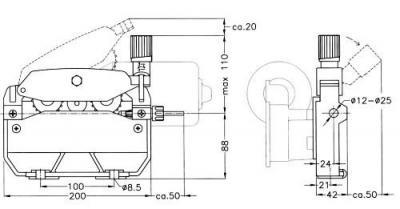 CWF 700 C Four Roll Wire Feed Mechanics