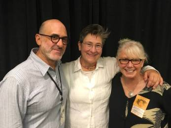 Sue Leonard with k.d. lang and David Pilch