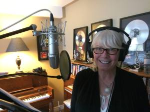 Sue Leonard in the studio