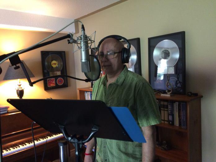 Wayne Krawchuk in the studio
