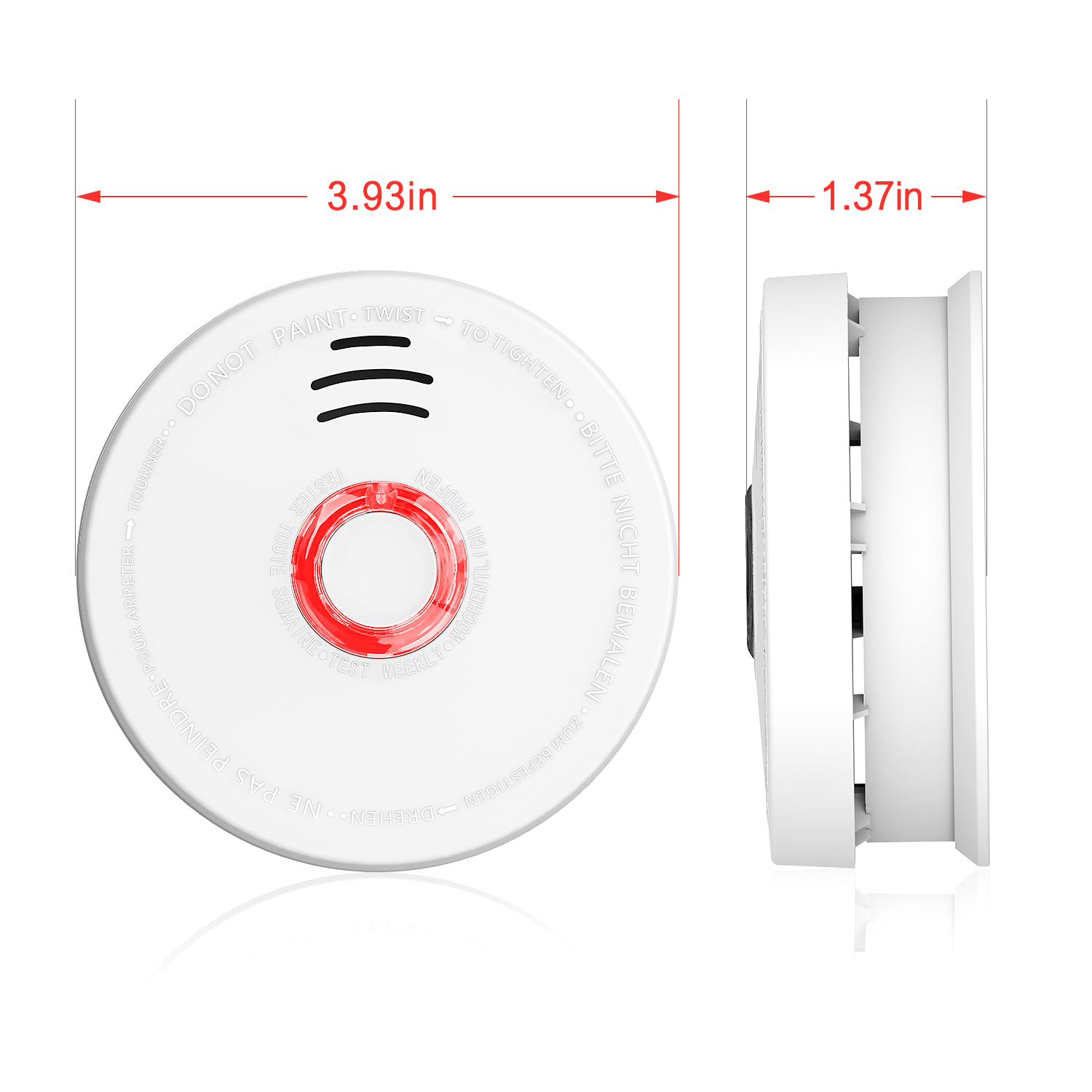 Smoke Detector, Battery-Operated(Not Hardwired) Smoke and
