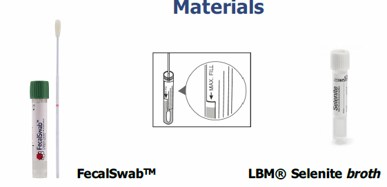 Implementation of COPAN FecalSwab and COPAN Selenite on