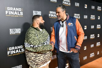 NEW YORK, NY - JULY 28: DJ Khaled and Rick Fox attend Overwatch League Grand Finals - Day 2 at Barclays Center on July 28, 2018 in New York City. (Photo by Bryan Bedder/Getty Images for Blizzard Entertainment )