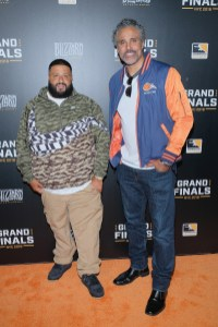 NEW YORK, NY - JULY 28: DJ Khaled and Rick Fox attend Overwatch League Grand Finals - Day 2 at Barclays Center on July 28, 2018 in New York City. (Photo by Matthew Eisman/Getty Images for Blizzard Entertainment )