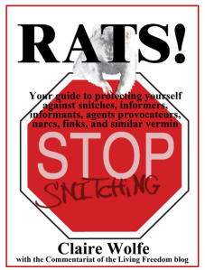 """Free e-Book """"Rats! Stop Snitching"""" by Claire Wolfe"""
