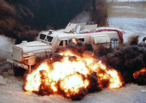 Deploy the Mine-Resistant Ambush Protected vehicles!