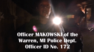 Warren Police Employee Makowski Issues Citation for Not Answering Questions [Video]