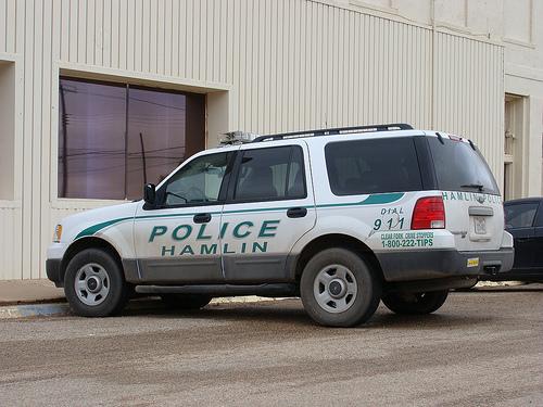 Hamlin TX Police Vehicle